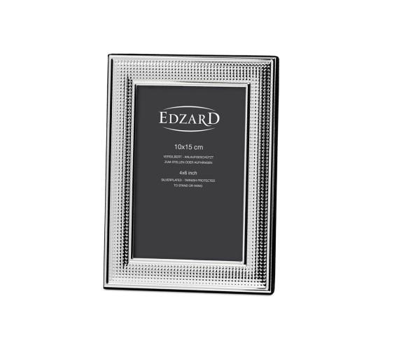 Fotorahmen Viareggio für Foto 10 x 15 cm, edel versilbert, anlaufgeschützt, mit 2 Aufhängern