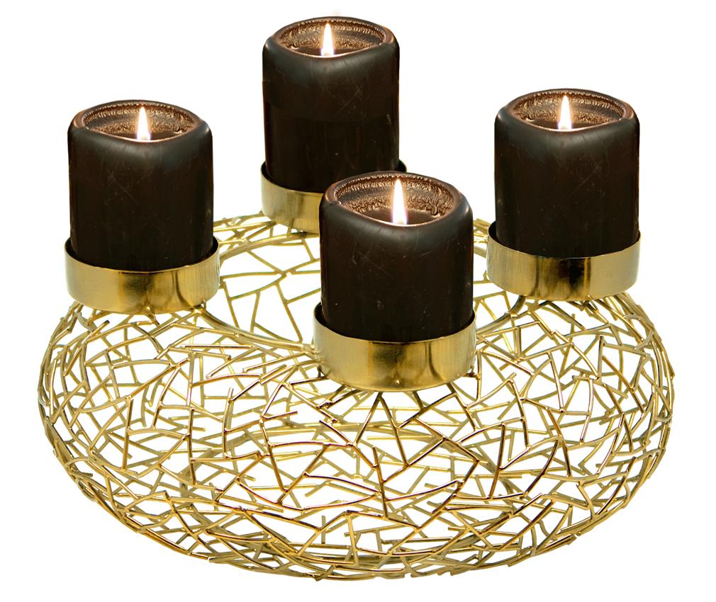 adventskranz milano edelstahl goldfarben durchmesser 34. Black Bedroom Furniture Sets. Home Design Ideas