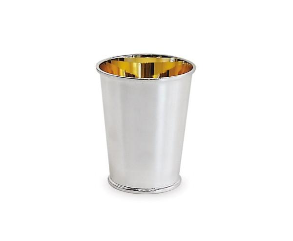 Silberbecher Konus, Echtsilber 925/000, innenvergoldet, Höhe 11 cm, Silbergewicht 102 Gramm