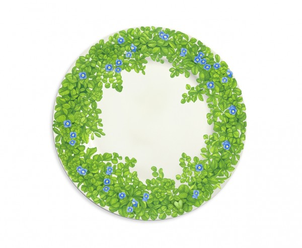 Taitu PRATI ITALIANI Teller flach Ø 27 cm (blaue Blüten)