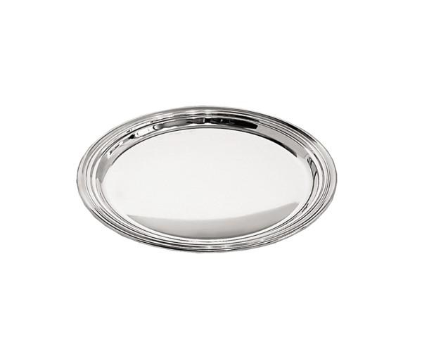 Flaschenteller Faden, Echtsilber 925/000, Durchmesser 14 cm, Silbergewicht 69 Gramm